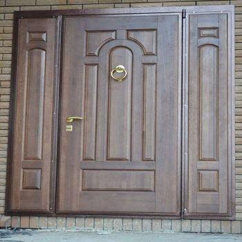 02 Входная дверь в дом + кованные элементы + нестандарт