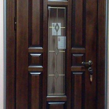 05 Входная дверь в дом + кованные элементы + стеклопакет + объемные элементы