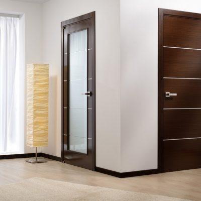 08 Межкомнатные двери с молдингом + стекло