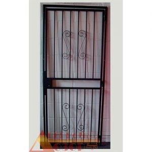 08 Решетчатая дверь + врезной замок