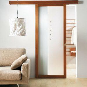 11 Межкомнатные раздвижные двери со стеклом