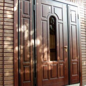 11 Входная дверь в дом + стеклопакет + нестандарт
