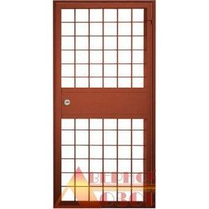 15 Решетчатая дверь + врезной замок