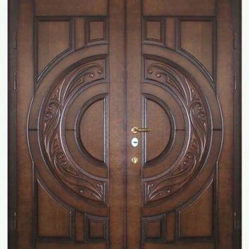 16 Входная дверь + нестандарт + патина +коричневая
