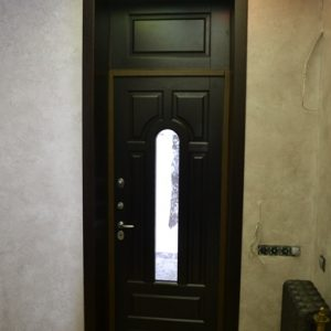17 Отделка откосов входной двери нестандарт высоты