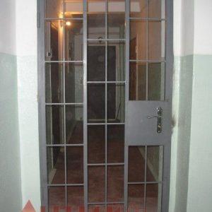 19 Решетчатая дверь + ручка + врезной замок