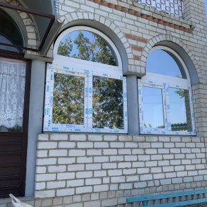 1 Металлопластиковые арочные окна