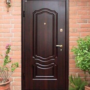 22 Входная дверь в дом + стандарт + темно-коричневая