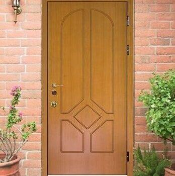 24 Входная дверь в дом + стандарт + светло-коричневая
