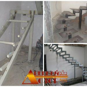 2 Металлическая лестница примеры работ