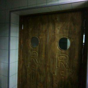 31 Межкомнатные двери ковбойка со стеклом + два полотна