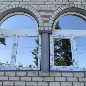 3 Металлопластиковые арочные окна