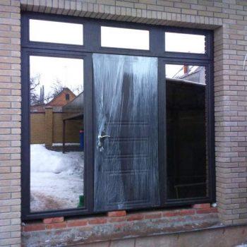 49 Входная дверь в дом + нестандарт + зеркала бронза