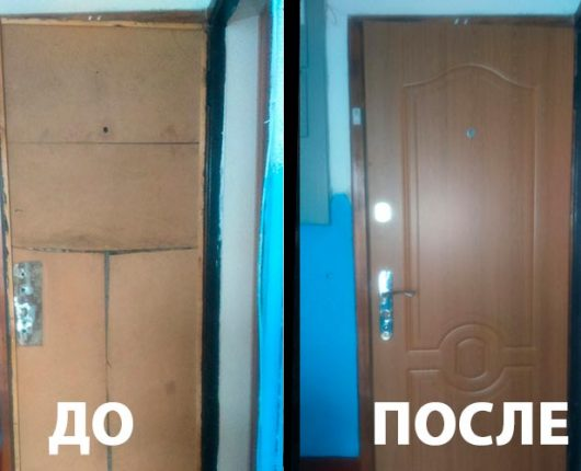 7. Реставрация: отделка двери, фурнитура
