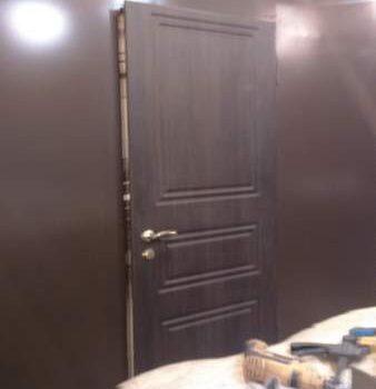52 Входная дверь в дом + нестандарт + процесс сборки